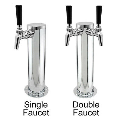 Stainless Steel Draft Beer Tower w/ Perlick Faucets - 525PC/650PC/630SS/650SS