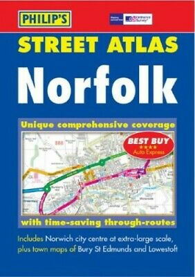 Street Atlas Norfolk by Britain, Great Spiral bound Book The Cheap Fast Free