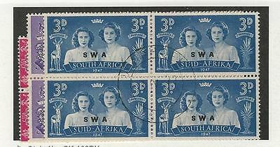 South West Africa, British, Postage Stamp, #156-158 Used Blocks, 1947
