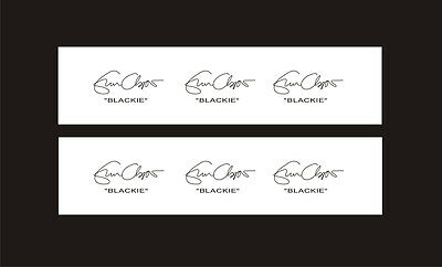 Your Signature - 6 Custom Water slide Decals