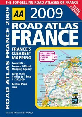 AA Road Atlas France (AA Atlases and Maps) by AA Publishing Spiral bound Book