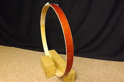 "PDP/Pacific Drums X7 22"" Bass Drum Hoop/Orange Sparkle/Maple Ply/NEW"