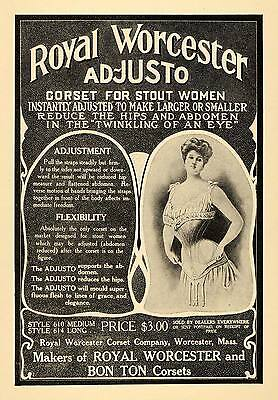 1908 Ad Royal Worcester Corset Co. Clothing Accessories - ORIGINAL TIN4