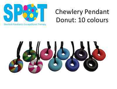 Donut Chewlery Pendant Silicone Chew Necklace AUTISM special needs SENSORY