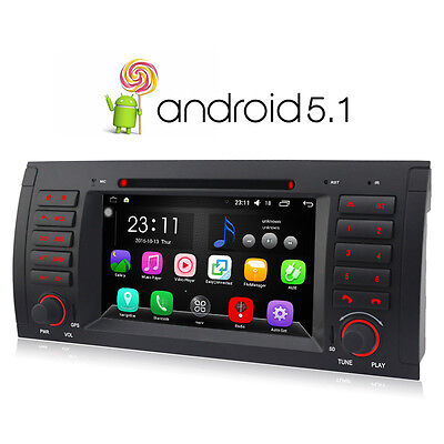 """For BMW BMW X5 E53 7"""" Android 5.1 Quad Core Car DVDPlayer Radio Stereo GPS WIFI"""