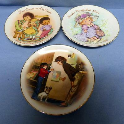 Set Of 3 Small Plates-Mother Day-1981,1984,1985 Crafted For Avon Products