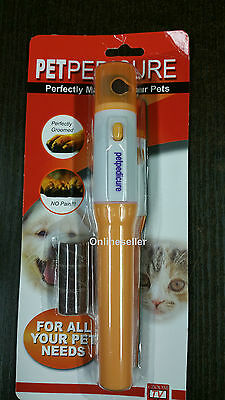 Electric Dog Cat Puppy Pet Nail Paw Pedicure Clipper Grinder Trimmer File Kit SY