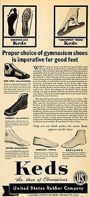 1935 Vintage Ad Keds Shoes Sneakers Conquest Meteor - ORIGINAL ADVERTISING PTS1