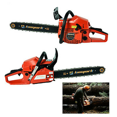 """Petrol Chainsaw 58cc 20"""" Saw Blade 3.4HP SAW BLADE AIR-COOLING with Box"""