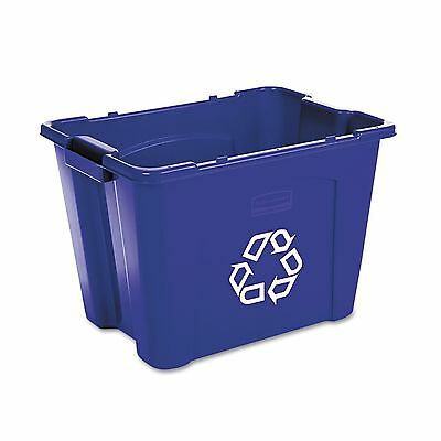 Rubbermaid Stacking Recycle Bin - Blue - 14 gal. New
