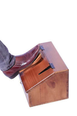 Shoe Shine Box - Wooden - with Foot Rest