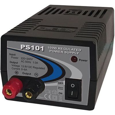 8A 13.8V (100W) Bench Top Power Supply - Fusion PS101