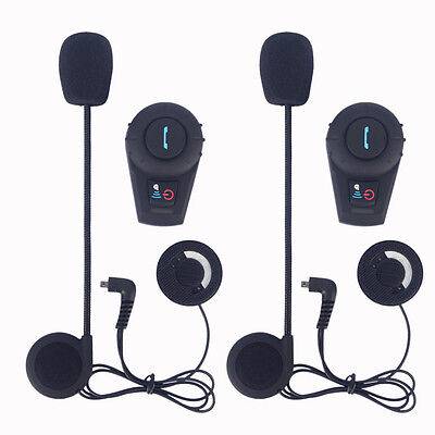 BT Moto Casco Bluetooth Intercom Motocicleta Intercomunicador Auriculares 500M