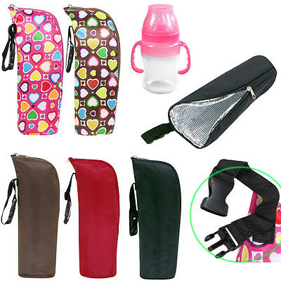 Baby Feeding Water Milk Bottle Warmer Stroller Hang Bag Case Thermal Insulated