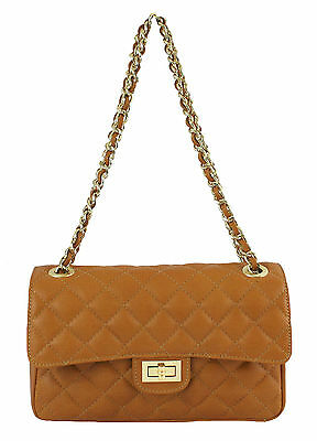 Made in Italy quilted women/'s shoulder bag 100 /% in genuine leather red 6078 US