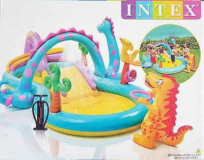 Dinoland Water fun Kids Water Play Centre with Pump Kids Paddling Pool by Intex