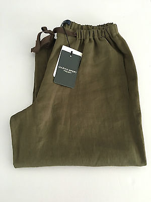 MARINA SPORT by Rinaldi women's trousers linen mud with shoelace size 21-50