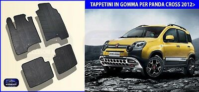 Tappetini auto in Gomma - Tappeti Specifici Set 4 PZ. Fiat Panda Cross 2012>