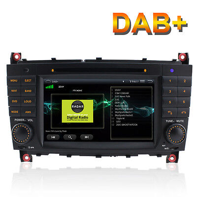 UK DAB+ Android 5.1.1 DVD GPS sat nav for Mercedes Benz C Class CLK CLC W203 AMG