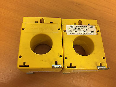 TWO 5VA current transformer 200 amp / 5 amp ratio AMAM AUTOMETERS 200A 5A