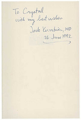 Jack Kevorkian - Book Signed 06/26/1992