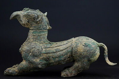 Ancient China Shang Dy Old Bronze beast