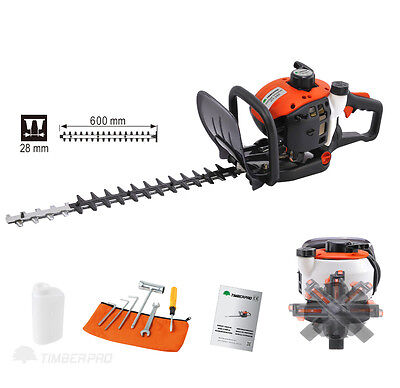 "TIMBERPRO Professional 26cc Petrol Powered Hedge Trimmer with 24"" / 60cm Blades"