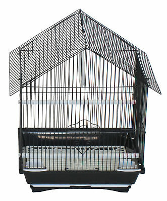 YML House Top Style Small Parakeet Cage With Food Access Doors
