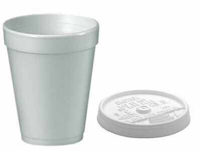 Dart 10oz Polystyrene Insulated Foam Poly Cups 1000 - Branded -  Free P&P