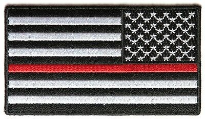 Thin Red Line American Flag Reversed Patch