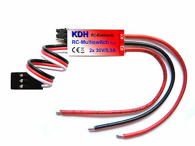 Multiswitch V2, 2 Kanal RC Schalter, 2x 30V/5,3A, Schaltmodul, Switch