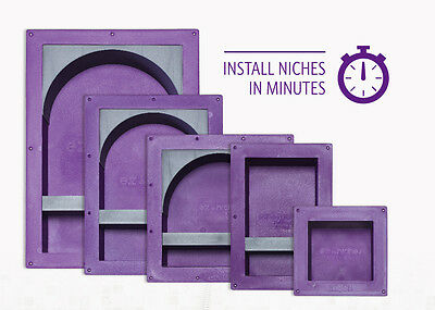EZ-NICHES USA Ready Tile Niche Recess Bathroom It Recessed Shower Shampoo Shelf