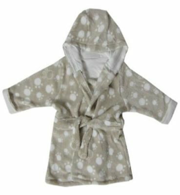 Ex Store New White Fluffy Soft Baby Boys Girls Unisex Dressing Gown Bath Robe