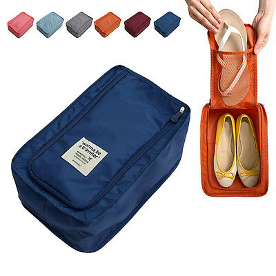 Portable Travel Shoes Storage Outdoor Tote Pouch Zip Waterproof Bag Organizer