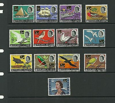 Pitcairn Islands -Sg69-81 Decimal Currency Surcharged Set Used