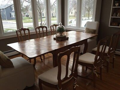 Turn of the Century French Style Cherry Dining Set and Hutch