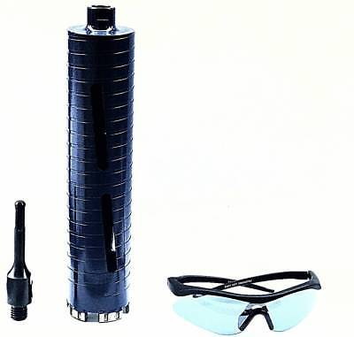 """COMBO: 2 1/4"""" Dry Diamond Core Drill Bit for Concrete with SDS Plus Adapter"""