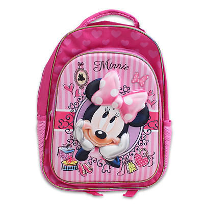 """Backpack 16"""" + Lunch Bag Tote Pop Out 3D Disney Minnie Bowtique New"""