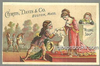 Victorian Trade Card for Welcome Soap with Royal Courting Couple
