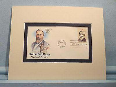 President Rutherford B. Hayes & the First  Day Cover of his own stamp