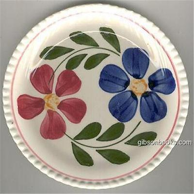 Vintage Colette Handpainted Small Plate With Bright Red and Blue Flowers