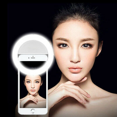 LED Selfie Flash Phone Camera Ring Light  For iPhone Samsung HTC LG TCL Android