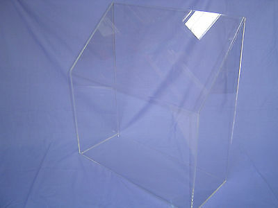 Clear Acrylic Portable Sneeze Guard Display Case 600mm x 650mm x 250mm