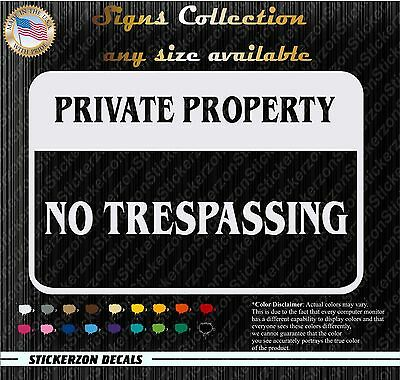 ebn4010 Private Property Business Multiple Patterns /& Sizes Decal Sticker