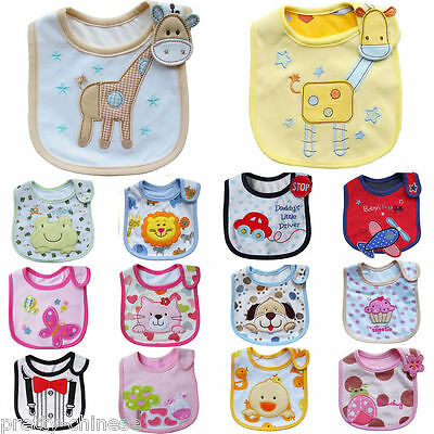 Boy Girl Baby Newborn Bibs Waterproof Saliva Towel Burp Cloth Feeding Bandana