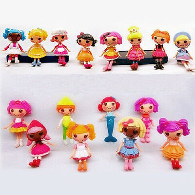 Lot of 8pcs Mini Lalaloopsy Dolls Cute Small Toys Home Decor Collections Fashion