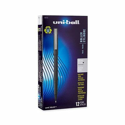 Uni-Ball Roller Stick Pens, Micro Point, Black Ink,, 1 [60151]Classic rollerball