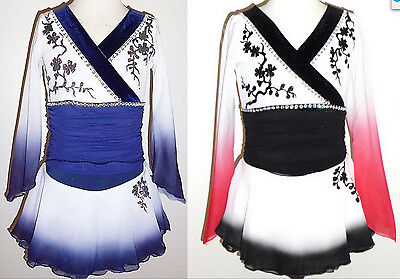 Made to Fit Ice Figure Skating dress/Twirling/Kimono/Oriental Dance costume