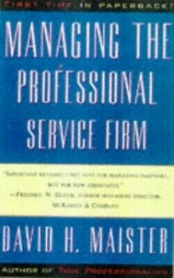 Managing the Professional Service Firm by Maister, David H. Paperback Book The