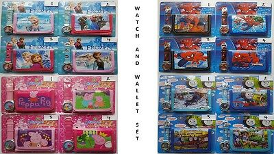 Children's/boys/girls Watch And Wallet Gift Set - Character/disney